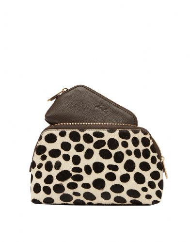 JOULES Peplow Cosmetic Purse Gift Set Choco